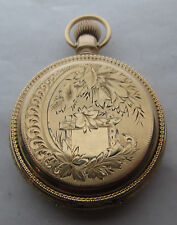 Antique Waltham 18s 14k/8k Solid Gold Pocket Watch15j BWCCo Wheat, 52mm, 119 gr