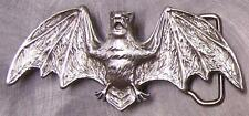 Pewter Belt Buckle Animal Spreadwing Bat in Flight NEW