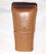Tobacco Road Tan 2 finger Cigar Case - Made in USA W/ Genuine Italian Leather