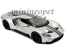 MAISTO 31384 2017 17 FORD GT 1/18 DIECAST MODEL CAR SILVER with STRIPES
