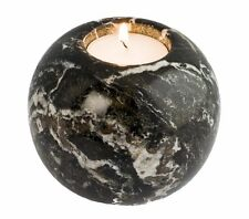 BLACK granito marmo SFERA TEA LIGHT CANDLE HOLDER-HOME & Garden FAB BBQ REGALO