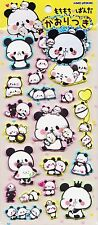 Cute Kawaii Japanese Puffy Panda Foam Stickers Diary Planner Craft Stationery