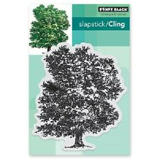 PENNY BLACK RUBBER STAMPS SLAPSTICK CLING STATELY TREE NEW cling STAMP SET