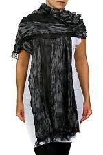 """GUESS CLOSING ) Women's Fashion Scarf, GREY 100% rayan diameter 65""""X20"""" inches"""