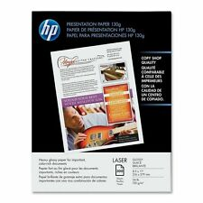 "Genuine HP- Q2546A - 8.5 x 11"" / 300-Sheet Color Laser Glossy Presentation Paper"