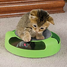 Cat Kitten Catch The Mouse Plush Moving Toy Scratching Claw Care Mat Play Fun