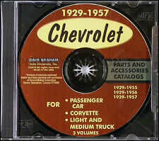 Chevy Part Book CD 150 210 Bel Air Nomad 1955 1956 1957