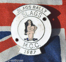 1987 SLAGS RALLY M.C.C  MOTORCYCLE MOTORBIKE ENAMEL BADGE