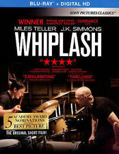 Whiplash (Blu-ray Disc, 2015, Includes Digital copy) w/slipcover, NEW!