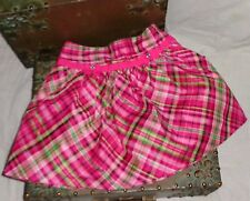 Gymboree Cherry All the Way Pink and Green Plaid Skirt Size 4 4T