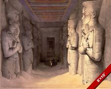 TEMPLE OF ABOO ANCIENT EGYPTIAN RUINS EGYPT PAINTING ART REAL CANVAS PRINT