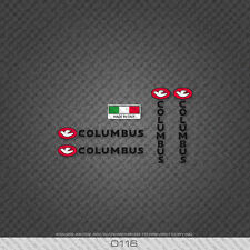 0116 Columbus Bicycle Frame And Fork Stickers - Decals - Transfers - Black