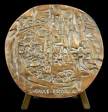 Médaille La Baule-Escoublac sc Claude SCHURR art moderne 78 mm 250 g Medal