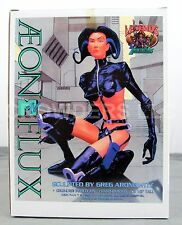 "Aeon Flux Cold Cast Porcelain 8-1/2"" Hand Painted Statue MTV '96 Legends in 3D"