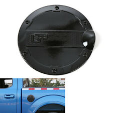 1x Auto Black Gas Door Cover Fuel Tank Oil Cap Trim ABS For Ford F150 2015-2016