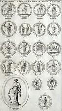 Médailles Fécondité Félicité Gaieté Liberté Antiquité Montfaucon Rome Gr