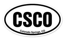 """CSCO Colorado Springs CO Oval car window bumper sticker decal 5"""" x 3"""""""