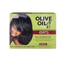 Estimulador de raíces orgánico Ors aceite de oliva relajador de cabello sin lejía normal todo en uno