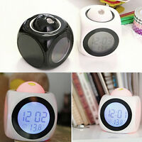 Exquisite LCD Display Voice Talking Projection Time Temp Display Alarm Clock
