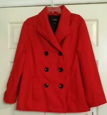 NWT Women's RAMPAGE Long Sleeve Wool Coat Lined Sz 1X VERY NICE!!