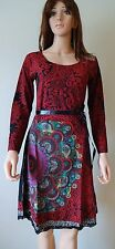 Desigual Ladies Dress, RED YOLANDA, Red&Multi,Size M