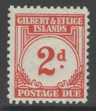 GILBERT & ELLICE IS. SGD2 1940 2d SCARLET MTD MINT