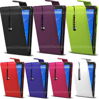 Flip Leather Case Cover Pouch For Sony Xperia Phones Various Models With Stylus