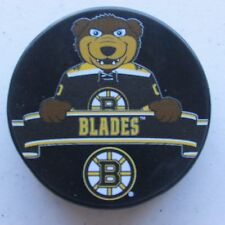 "Official NHL Licensed puck of the Boston Bruins Mascot ""Blades"""