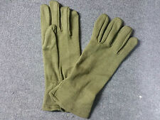 Original British Army AFV Gloves Crewman Olive FR Fire Retardant Size Medium UK
