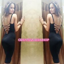 Sexy Women Backless Sleeveless Evening Party Cocktail Mini Dress Bandage Slim