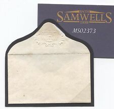 MS2373 1840s GB MINIATURE EMBOSSED ENVELOPE Scrolls *TUESDAY* Flap Superb RARE