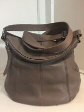 THE SAK  Leather Deena SLOUCH Cross Body Bag Purse  TAUPE