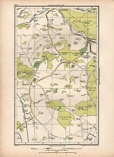 1936  LARGE SCALE VINTAGE LONDON MAP BATCHWORTH HAREFIELD COPSE WOOD NEWYEARS GR