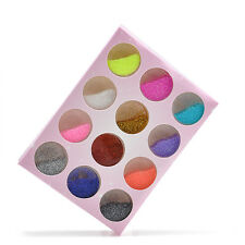 Wholesale 12pcs Color Glitter Dust Powder for Nail Art Acrylic Tips Decoration