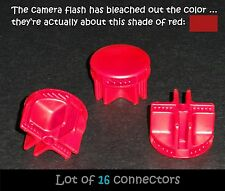 16 RED plastic snap connectors for guinea pig cage grid wire/metal/cube +BONUS
