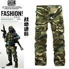 2 Color Multi-pocket Military Cargo Pants Casual Men's Camouflage Combat Pants