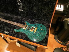Prs Private Stock Custom 22 Blue Green Quilt Brazilian Fret  Vintage Rail 2005