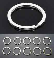 10pcs Metal Key Holder Split Rings Keyring Keychain Keyfob Accessories Gift 30mm