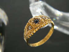 ANTIQUE VICTORIAN! 15CT GOLD SAPPHIRE AND PEARL RING! RING FROM 1897!