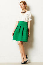 NWT $128 Anthropologie Girls From Savoy Ponte Skirt Kelly Green Size Small