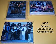 KISS Collector Cards Series II  - TRADING CARDS    COMPLETE Silver Foil SET
