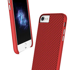 "Prodigee Breeze Red iPhone 7 4.7"" Dual Layer Thin Perforated Case Slim Cover"