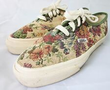 VINTAGE 90's VANS SNEAKERS Floral Tea Tapestry Canvas SHOES MADE IN USA 7.5