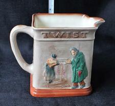 """1949 ROYAL DOULTON Porcelain Dickens Series OLIVER ASKS MORE  6"""" Relief Pitcher"""