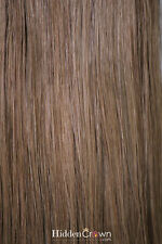 Lightbrown/darkblond Human Remy Halo Hairextensions Hidden Crown 18 inches