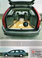 Publicité advertising 2001 Citroen C5 Break