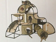 Cat tree condo with tunnel cat furniture