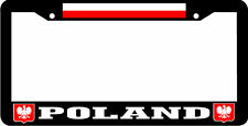 POLAND flag coat of arms License Plate Frame