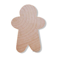 25 Small Unfinished Wood Narrow Gingerbread Man Cut Outs 1 3/4 Inch Made in USA