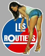 LES ROUTIERS PINUP SEXY CAMION TRUCK 12cmX10cm AUTOCOLLANT STICKER RA120